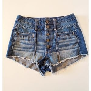 American Eagle Outfitters high waisted denim short
